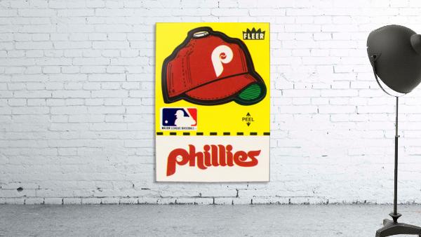 1981 Phillies Fleer Decal Wall Art