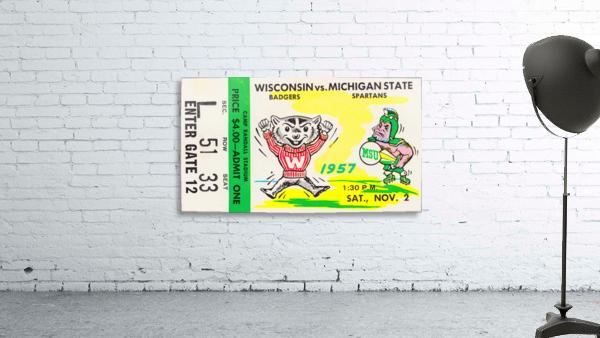 1957 Wisconsin vs. Michigan State Football Ticket Art