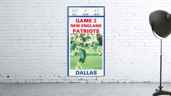 1982 Dallas Cowboys Ticket Stub Wall Art