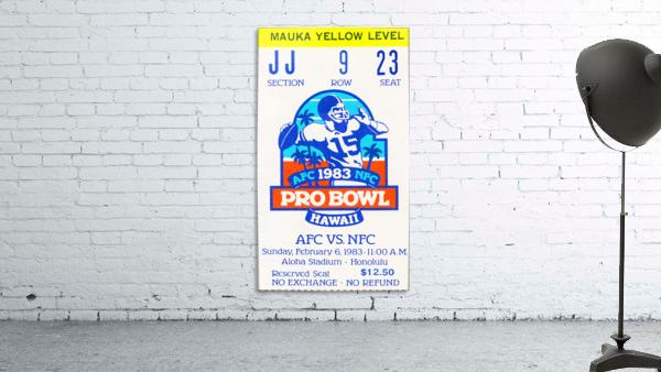 1983 Pro Bowl Ticket Stub Wall Art