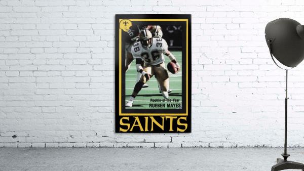 1988 New Orleans Saints Reuben Mayes Poster