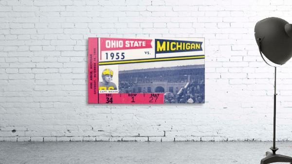 1955 Michigan vs. Ohio State Football Ticket Art