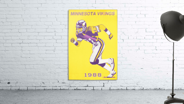 1988 Minnesota Vikings Football Poster