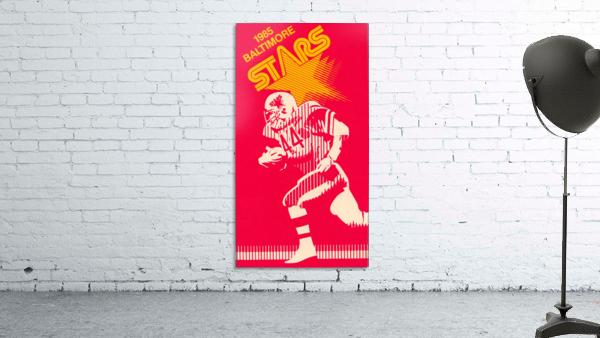1985 Baltimore Stars USFL Football Art