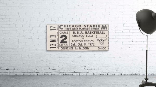 1972 Chicago Bulls vs. Boston Celtics Ticket Stub Art