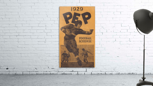 1929 Pep Football Schedule Art