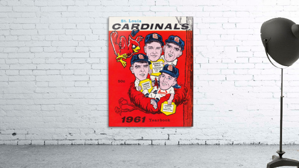 1961 St. Louis Cardinals Yearbook Poster