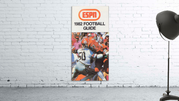 1982 ESPN College Football Guide Poster