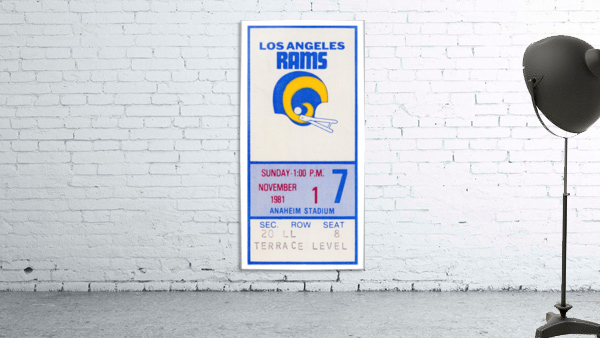 1981 Los Angeles Rams Ticket Stub Art