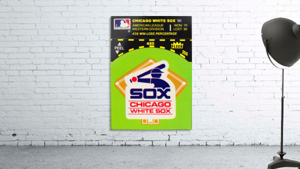 1980 Chicago White Sox Fleer Decal Wall Art