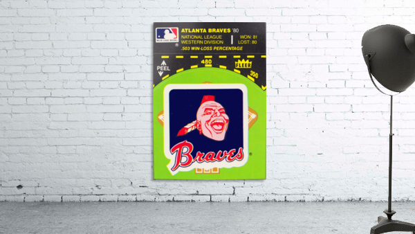 1981 Atlanta Braves Fleer Decal Poster