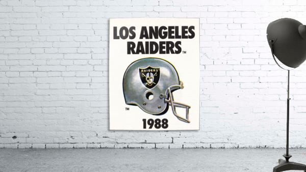 1988 Los Angeles Raiders Helmet Art