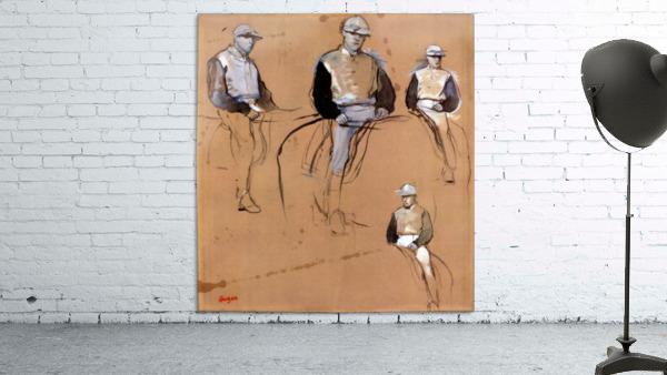 Study with four jockeys by Degas