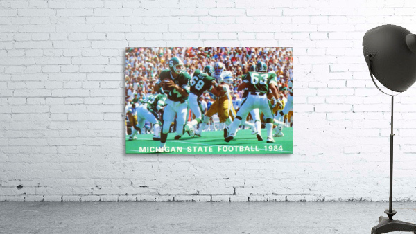 1984 Michigan State Football Poster