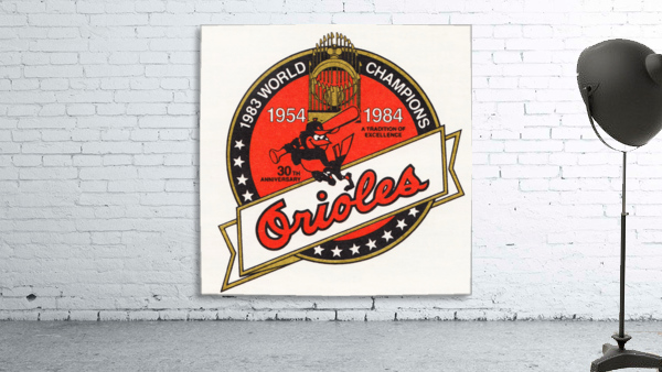 1983 Baltimore Orioles World Champions Art