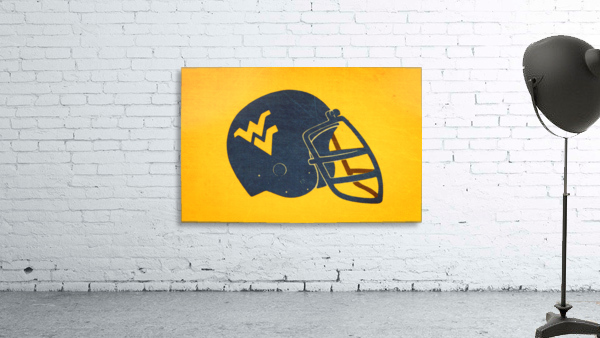1985 West Virginia Mountaineers Football Helmet Art