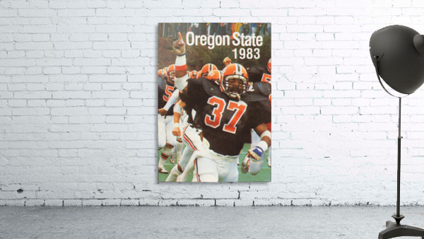 1983 Oregon State Beavers Football Poster