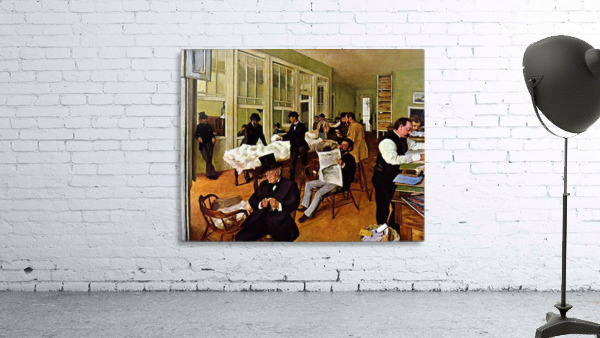 The cotton exchange by Degas