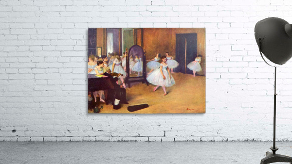 The dance hall by Degas