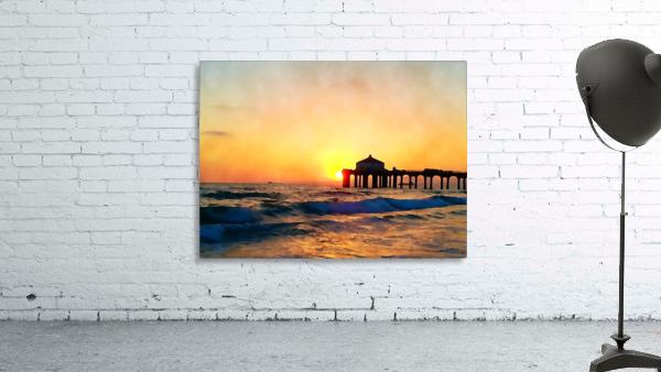 manhattan beach sunset wall art