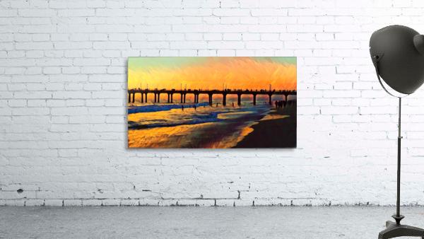 manhattan beach sunset art