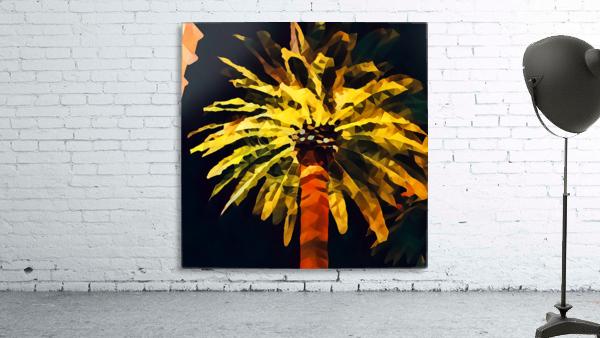las vegas palm tree at night