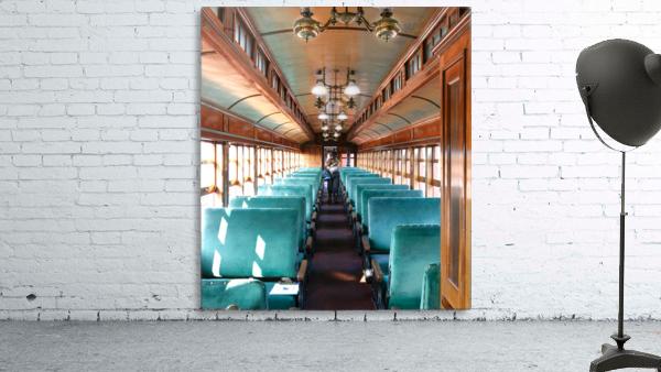 Interior of Antique Railcar.