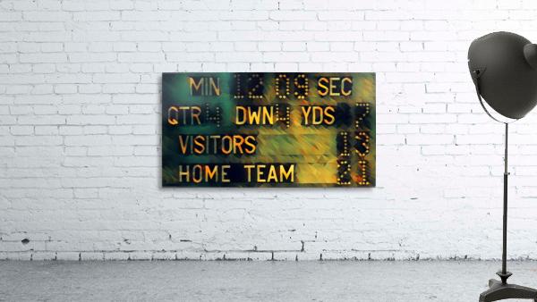 Football Scoreboard Art