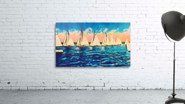 sail boats art