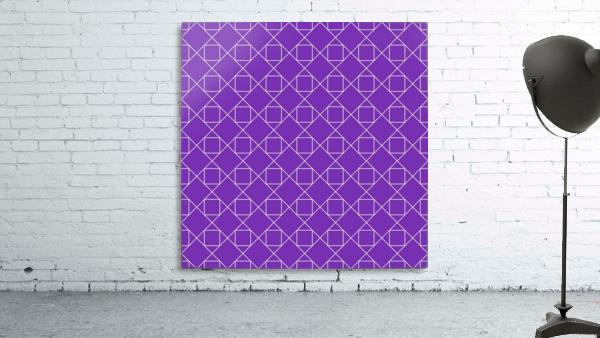 Purple Squares And Diamonds Pattern