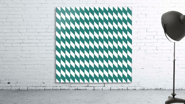Dark Green Checkers Pattern