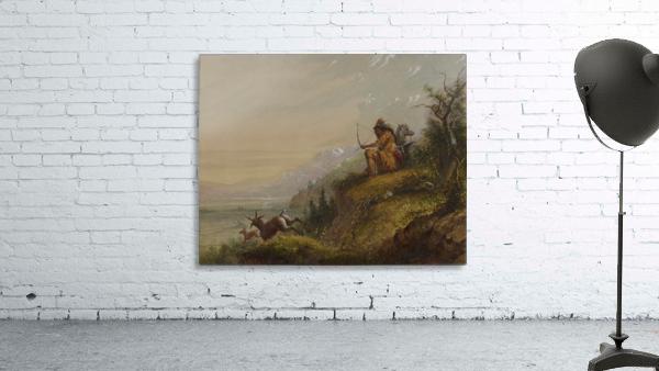 A Pawnee Indian shooting antelopes