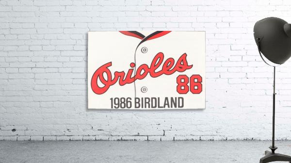 1986 Baltimore Orioles Metal Sign