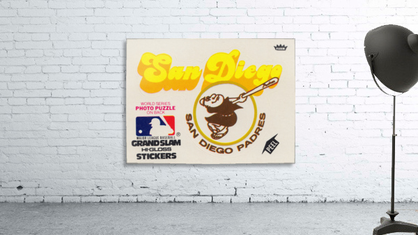 1981 Fleer San Diego Padres Decal Poster
