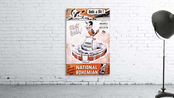 1954 Orioles Score Card Art