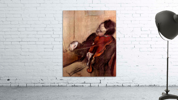 The violinist 1 by Degas