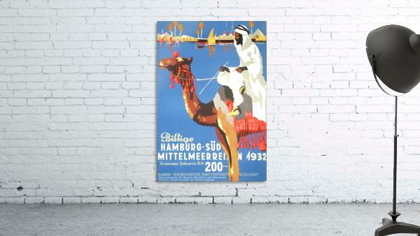 Hamburg-Sud Billige Mittelmeerreisen Original Poster
