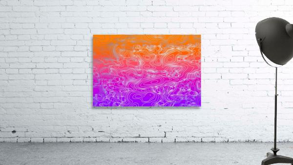 geometric fractal line abstract background in purple orange