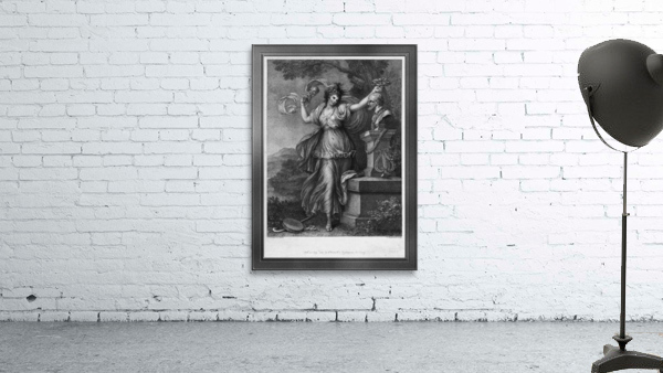 Mrs. Abington as Thalia by Engraver Francesco Bartolozzi Classical Art Old Masters Reproduction