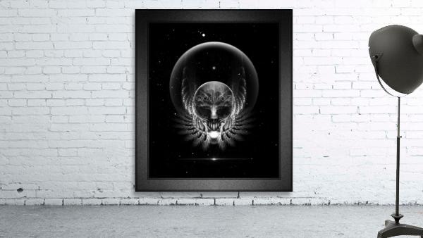 Gothic Wing Feitan Skull Fractal Art Composition