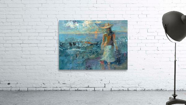 Woman on a Twilight Beach