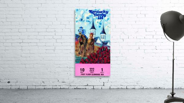1988 Kentucky Derby Ticket Stub Canvas