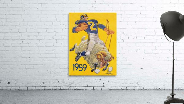 1959 LA Rams Karl Hubenthal Art