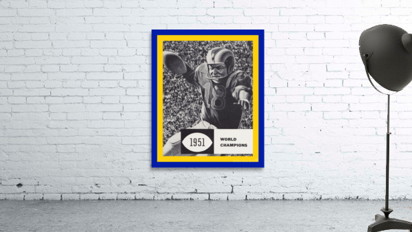 LA Rams 1951 World Champions Art