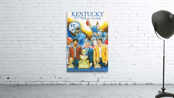 1977 Kentucky Football Poster