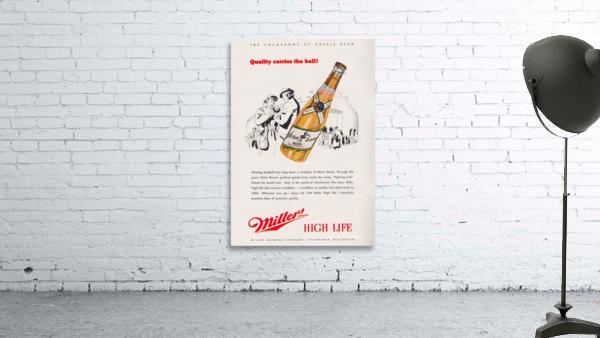 1947 Miller Beer Ad