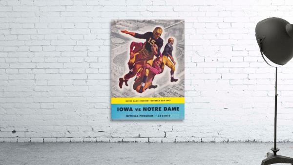 1947 Notre Dame vs. Iowa Football Program Cover Art