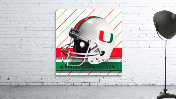 Retro Miami Hurricane Football Helmet Art