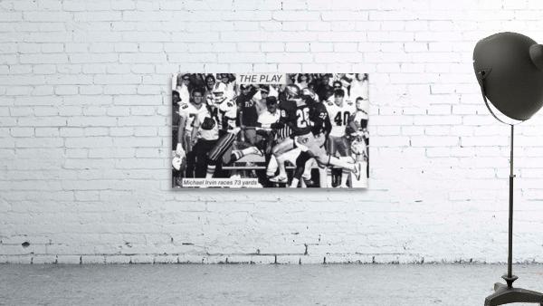 1987 Michael Irvin Miami Football Art