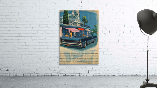 1964 Pontiac Grand Prix Car Advertisement